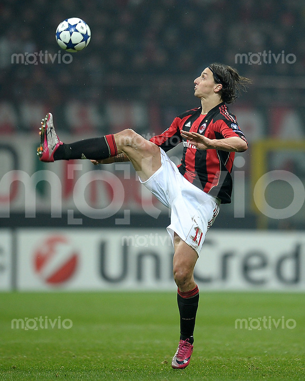 FUSSBALL   CHAMPIONS LEAGUE   SAISON 2010/2011   Achtelfinale 15.02.2011 AC Mailand - Tottenham Hotspur Zlatan Ibrahimovic (AC Mailand)