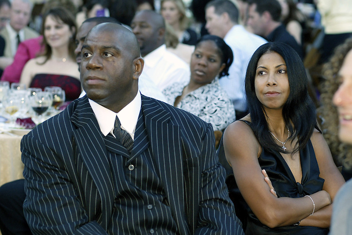 22 May 2005: .Magic Johnson and wife Cookie at the 2nd Annual Gala Dinner benifitting the Chaka Khan Foundation in Beverly Hills, CA..Mandatory Credit: Juliann Tallino