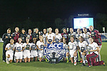 10 November 2013: 2013 ACC Champion Florida State Seminoles. The Florida State University Seminoles defeated the Virginia Tech Hokies 1-0 at WakeMed Stadium in Cary, North Carolina in a 2013 NCAA Division I Women's Soccer match and the championship game of the Atlantic Coast Conference tournament.