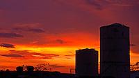 Sunset and Water tanks, Manila, Philippines