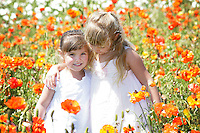 3 April 2011:  The Berg Family inside the Flower Fields in Carlsbad, CA.