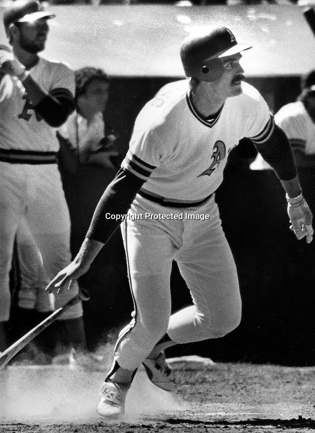 A's Dave Revering   (photo 1978 by Ron Riesterer)