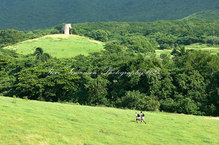 Hikers at Annaly Farm<br /> St. Croix <br /> U.S. Virgin Islands