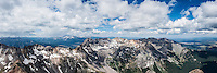 View from summit of Mt. Sneffels (14150 ft), San Juan mountains, Colorado, USA