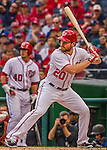 7 April 2016: Washington Nationals infielder Daniel Murphy at bat during the Nationals' Home Opening Game against the Miami Marlins at Nationals Park in Washington, DC. The Marlins defeated the Nationals 6-4 in their first meeting of the 2016 MLB season. Mandatory Credit: Ed Wolfstein Photo *** RAW (NEF) Image File Available ***