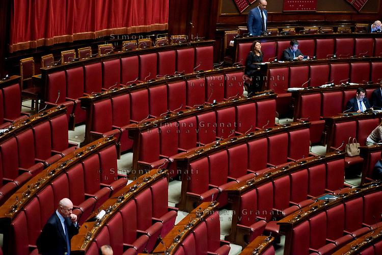 Roma, 31 Gennaio 2014<br /> Camera dei Deputati - Voto sulle pregiudiziali di costituzionalit&agrave; della legge elettorale<br /> I banchi vuoti del Movimento 5 Stelle