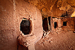 Ancestral Puebloan (Anasazi) cliff dwelling and granaries. Cedar Mesa, Utah.