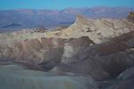California, Southeast, Death Valley National Park, Furnace Creek. Zabriskie Point in predawn light.