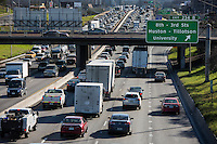 Austin's city officials say they are taking a multifaceted approach to escaping the I-35 traffic gridlock, researchers say Austin's growing population will likely only worsen the commute unless significant action on I-35 traffic is taken.