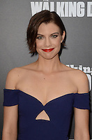 HOLLYWOOD, CA - OCTOBER 23: Lauren Cohan at AMC Presents Live, 90-Minute Special Edition of 'Talking Dead' at Hollywood Forever on October 23, 2016 in Hollywood, California. Credit: David Edwards/MediaPunch