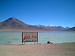 bolivian and chilian border close the the atacama desert