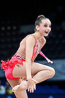 September 10, 2015 - Stuttgart, Germany - CAMILLA FEELEY of USA performs during AA qualifications at 2015 World Championships.