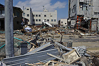 Debris from the March 11 tsunami, Ishinomaki, Miyagi Prefecture, Japan, May 5, 2011. Almost two months after the devastating earthquake and tsunami the reconstruction has barely begun.