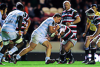 Camille Chat of Racing 92 takes on the Leicester Tigers defence. European Rugby Champions Cup match, between Leicester Tigers and Racing 92 on October 23, 2016 at Welford Road in Leicester, England. Photo by: Patrick Khachfe / JMP