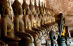 Wat Si Saket Buddha statues, a few of almost 3000 statues, Vientiane's most historic temple.