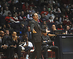 "East Tennessee State coach Murry Bartow reacts to a play agianst Mississipi at the C.M. ""Tad"" Smith Coliseum in Oxford, Miss. on Saturday, December 18, 2010. (AP Photo/Oxford Eagle, Bruce Newman)"