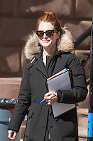 MAR 06 Julianne Moore on the Film-Set of 'Still Alice' - NY