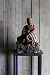 A luo-han cast-iron Buddhist statue stands inside one of the 10 lofts at Suiboku luxury lofts in Hirafu, northern Japan on Feb. 7 2010.