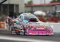May 1, 2016; Baytown, TX, USA; NHRA funny car driver Courtney Force during the Spring Nationals at Royal Purple Raceway. Mandatory Credit: Mark J. Rebilas-USA TODAY Sports