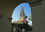 The California Tower in Balboa Park, San Diego, California.