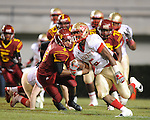 Lafayette High's Demarkous Dennis (5) runs 80 yards for a touchdown vs. Laurel in the MHSAA Class 4A championship game at Mississippi Veterans Memorial Stadium in Jackson, Miss. on Saturday, December 3, 2011. Lafayette won 39-29, the team's 32 straight win, to capture their second consecutive state championship.