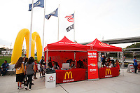 McDonald's fan zone. The men's national teams of the United States (USA) and Colombia (COL) played to a 0-0 tie during an international friendly at PPL Park in Chester, PA, on October 12, 2010.