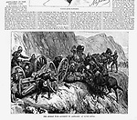 British in Afghanistan 1879 horse-drawn Artillery accident in the mountain roads at Lundi Kotal in the Khyber Pass. Harper's Weekly March 8, 1879