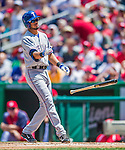1 June 2014: Texas Rangers infielder Luis Sardinas in action against the Washington Nationals at Nationals Park in Washington, DC. The Rangers shut out the Nationals 2-0 to salvage the third the third game of their 3-game inter-league series. Mandatory Credit: Ed Wolfstein Photo *** RAW (NEF) Image File Available ***