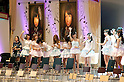 June 6, 2012, Tokyo, Japan - Top ten members say good bye to fans.  AKB General Election at Nippon Budokan. The biggest girl band in the world and Japan's most popular pop group elected its new leader in a nationwide election open to all fans. The collective is organised into different units which in turn are sometimes split into smaller groups. The night involved singing, games, tears and the eventual crowning of new leader Yuko Oshima from Team K with 108837 votes for most popular member..