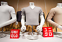 August 25, 2011, Tokyo, Japan - New lines of revolutionary thermal underwear Heattech are displayed during a news conference in Tokyo on Thursday, August 25, 2011. Casual clothing store chain Uniqlo Co., a core unit of Fast Retailing, said it is aiming for 25% growth in sales volume globally for its Heattech this winter. Uniqlo and Toray Industries Inc., the nation's biggest synthetic fiber maker, have formed a strategic partnership under which they jointly develop new products and materials, with Heattech one successful example of their collaboration. Since Uniqlo started marketing Heattech products, cumulative sales to date total 199 million items. (Photo by AFLO) [3609] -mis-