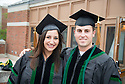 Felicia Bahadue, left, Stephen Morris. Commencement class of 2013.