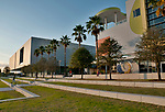The Glazer Children's Museum and the Tampa Museum of Art at the Curtis Hixon Waterfront Park in downtown Tampa, Florida
