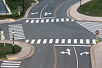 A four way intersection leading cars and people in all directions. Photo/Andrew Shurtleff