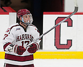 Sean Malone (Harvard - 17) - The Harvard University Crimson defeated the Yale University Bulldogs 6-4 in the opening game of their ECAC quarterfinal series on Friday, March 10, 2017, at Bright-Landry Hockey Center in Boston, Massachusetts.