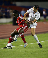 Yael Averbuch of United States. The US Women's National Team defeated Haiti 5-0 during the CONCACAF Women's World Cup Qualifying tournament at Estadio Quintana Roo in Cancun, Mexico on October 28th, 2010.