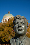 Statue of John F. Kennedy in front of Pima County Courthouse, Tucson, Arizona