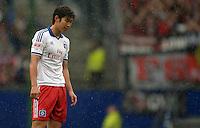 FUSSBALL   1. BUNDESLIGA   SAISON 2012/2013    34. SPIELTAG Hamburger SV - Bayer 04 Leverkusen                      18.05.2013 Heung Min Son (Hamburger SV)  ist enttaeuscht