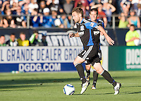 Bobby Convey of Earthquakes in action during the game against the Sounders at Buck Shaw Stadium in Santa Clara, California on July 31st, 2010.   Seattle Sounders defeated San Jose Earthquakes, 1-0.