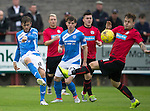 Brechin City v St Johnstone&hellip;26.07.16  Glebe Park, Brechin. Betfred Cup<br />Murray Davidson is blocked by Ally Love<br />Picture by Graeme Hart.<br />Copyright Perthshire Picture Agency<br />Tel: 01738 623350  Mobile: 07990 594431
