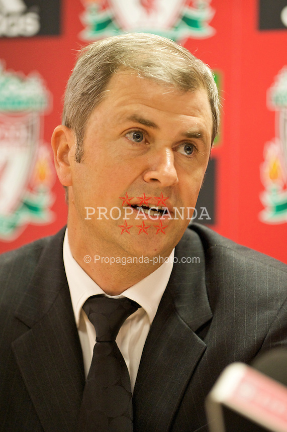 LIVERPOOL, ENGLAND - Thursday, April 30, 2009: Dr Lee Martin, consultant breast surgeon, at Anfield for the launch of the Hillsborough Memorial game. - 090430-022-Hillsborough-Memorial-Game