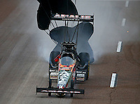 Feb 20, 2015; Chandler, AZ, USA; NHRA top fuel driver Terry McMillen during qualifying for the Carquest Nationals at Wild Horse Pass Motorsports Park. Mandatory Credit: Mark J. Rebilas-