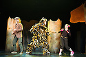 London, UK. 21.11.2013. Tall Stories' musical adaptation of THE GRUFFALO, by Julia Donaldson and Axel Scheffler, returns to the West End, in the Lyric theatre. With Tom Crook as the Gruffalo, Susanna Jennings as the Mouse and Timothy Richey as the Predators. Photograph © Jane Hobson.