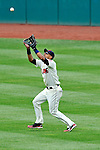 14 September 2008: Cleveland Indians' outfielder Franklin Gutierrez gets an out in the 9th inning against the Kansas City Royals at Progressive Field in Cleveland, Ohio. The Royal defeated the Indians 13-3 to take the 4-game series three games to one...Mandatory Photo Credit: Ed Wolfstein Photo