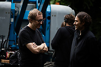 The Lost City of Z (2016)<br /> Director James Gray (left) and producer Jeremy Kleiner (right) on the set of <br /> *Filmstill - Editorial Use Only*<br /> CAP/KFS<br /> Image supplied by Capital Pictures