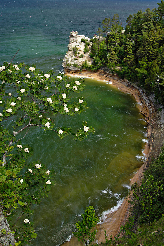 Miners Castle at Pictured Rocks National Lakeshore in Munising Michigan.