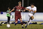 10 November 2010: BC's Kyle Bekker (10) and Duke's Rob Dolot (24). The Duke University Blue Devils played the Boston College Eagles at Koka Booth Stadium at WakeMed Soccer Park in Cary, North Carolina in an ACC Men's Soccer Tournament Quarterfinal game.