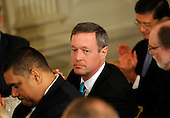 Governor Martin O'Malley (Democrat of Maryland) attends the National Governors Association meeting in the White House State Dining Room, on Monday, February 27, 2012, in Washington, DC. .Credit: Leslie E. Kossoff / Pool via CNP