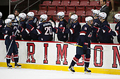 Jacob Tortora (NTDP - 11), Josh Norris (NTDP - 14) - The Harvard University Crimson defeated the US National Team Development Program's Under-18 team 5-2 on Saturday, October 8, 2016, at the Bright-Landry Hockey Center in Boston, Massachusetts.