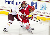 Michael Matheson (BC - 5), Evan Rodrigues (BU - 17) - The Boston College Eagles defeated the visiting Boston University Terriers 5-2 on Saturday, December 1, 2012, at Kelley Rink in Conte Forum in Chestnut Hill, Massachusetts.