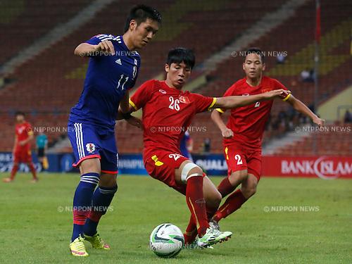 Yuya Kubo (JPN), MARCH 29, 2015 - Football / Soccer : AFC U-23 Championship 2016 Qualification Group I match between U-22 Japan 2-0 U-22 Vietnam at Shah Alam Stadium in Shah Alam, Malaysia. (Photo by Sho Tamura/AFLO SPORT)
